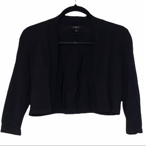 Ann Taylor open front cropped black cardigan